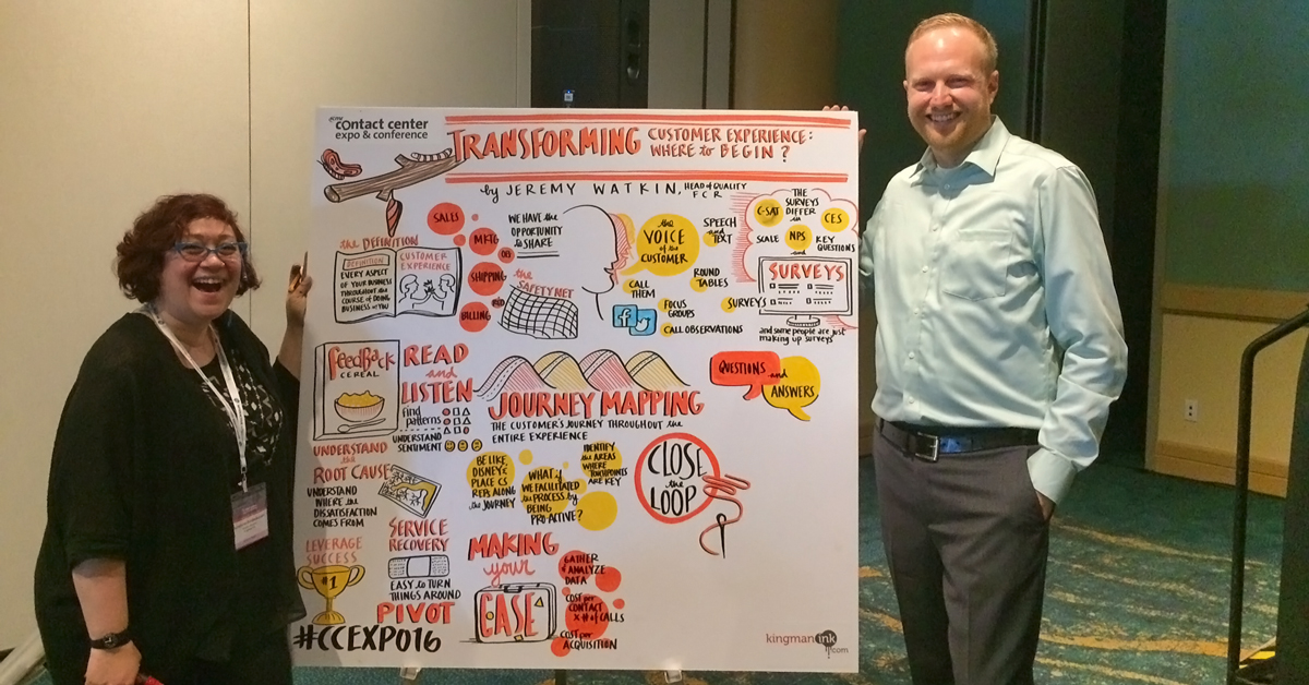 Jeremy Watkin with SunShine BenBelkacem of Matter Group in front of the incredible infographic she created during his presentation.