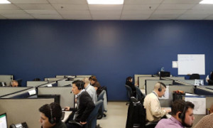 Representatives from FCR's nearshore operations in Tijuana, Baja taking calls from customers.